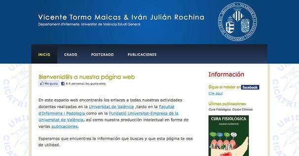 Web de Vicente Tormo e Iván Julián